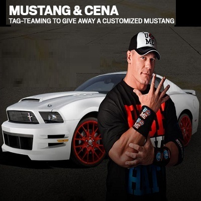 Mustang & Cena Tag-Teaming up to giveaway Customized Mustang